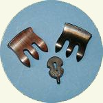 Violin Mutes in Ebony, Rosewood & Rubber