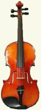 Picture of a 3/4 size violin on the New Violins For Sale page