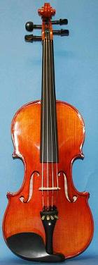 Picture of the front of a good quality Chinese violin - The Violin Company