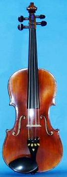 Picture of the front of an old violin - the Violin Company