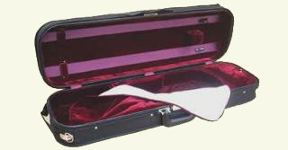 A good quality long lasting oblong case. Strong wood veneer shell with arched top. Cordura Cover with full length music pocket. Full suspension system. Plenty of room inside for a shoulder rest and spare strings. A case that looks after your violin.